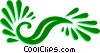 Decorative Flourishes Vector Clipart picture