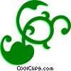 Decorative Flourishes Vector Clipart image