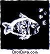 Vector Clipart graphic  of a Various Fish