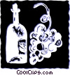 Vector Clip Art graphic  of a Wine