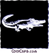 Vector Clip Art graphic  of an Alligators
