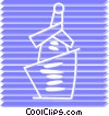 Vector Clip Art image  of a Champagne