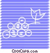 Vector Clip Art image  of a Grapes