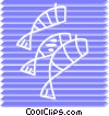 Vector Clip Art graphic  of a Various Fish