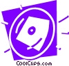 Hard Disk Drives Vector Clipart graphic