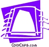 Vector Clip Art picture  of a Chips and Processors