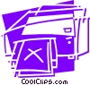 Vector Clipart illustration  of a Printers