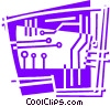 Circuit Boards Vector Clipart picture