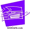 Flatbed Scanners Vector Clipart illustration