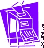 Photocopiers Vector Clipart illustration