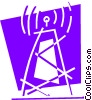 Communication Towers Vector Clipart image