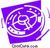 Space Stations Vector Clipart illustration
