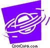 Vector Clipart illustration  of a Planetary Bodies