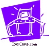 Vector Clipart graphic  of a Robots