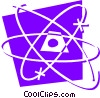 Vector Clipart image  of an Atoms