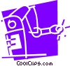 Vector Clip Art graphic  of a Robots