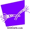 Vector Clipart image  of a Wire and Cables