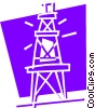 Vector Clip Art graphic  of a Communication Towers