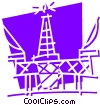 Offshore Drilling Platforms Vector Clipart graphic