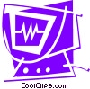 Vector Clip Art graphic  of a ECG and Scopes