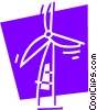 Windmills Vector Clip Art picture