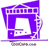 Vector Clip Art graphic  of a Refineries
