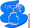 Airbrushes Paint Sprayer Vector Clipart illustration
