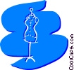 Vector Clipart graphic  of a Mannequin
