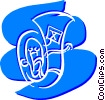 Vector Clip Art graphic  of a Tubas