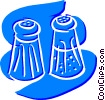 Vector Clipart graphic  of a Salt and Pepper