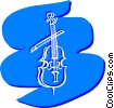 Violins and Fiddles Vector Clipart illustration