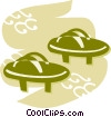 Vector Clip Art image  of a Japanese sandals