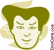Vector Clipart picture  of a Faces