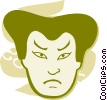 Faces Vector Clipart graphic