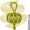 Japanese Lanterns Vector Clipart image