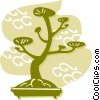 Vector Clipart picture  of a Bonsai Trees