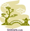 Vector Clip Art picture  of a Bonsai Trees