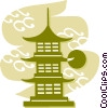Vector Clip Art picture  of a Pagodas