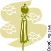 Vector Clip Art graphic  of a Japanese Lanterns
