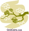 Bonsai Trees Vector Clipart image