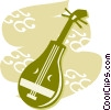 Vector Clip Art graphic  of a Mandolins