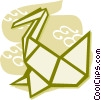 Vector Clip Art graphic  of a Origami