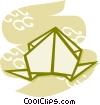 Origami Vector Clipart illustration