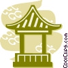 Pagodas Vector Clip Art graphic