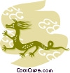 Vector Clip Art image  of a Dragons