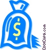 Vector Clip Art picture  of a bag of money