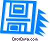 Vector Clipart picture  of a floppy disk