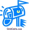 mailbox Vector Clipart illustration