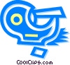 Vector Clip Art graphic  of a tape dispenser