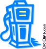 gasoline pump Vector Clipart illustration